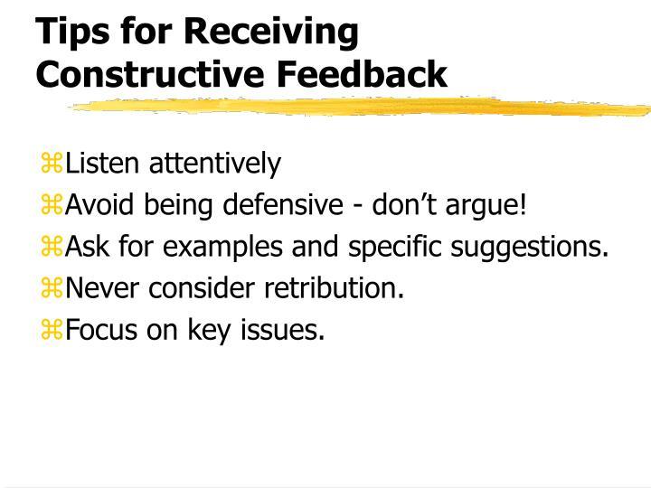 Tips for Receiving Constructive Feedback