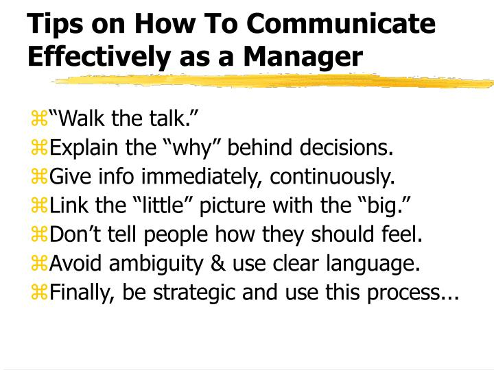 Tips on How To Communicate Effectively as a Manager