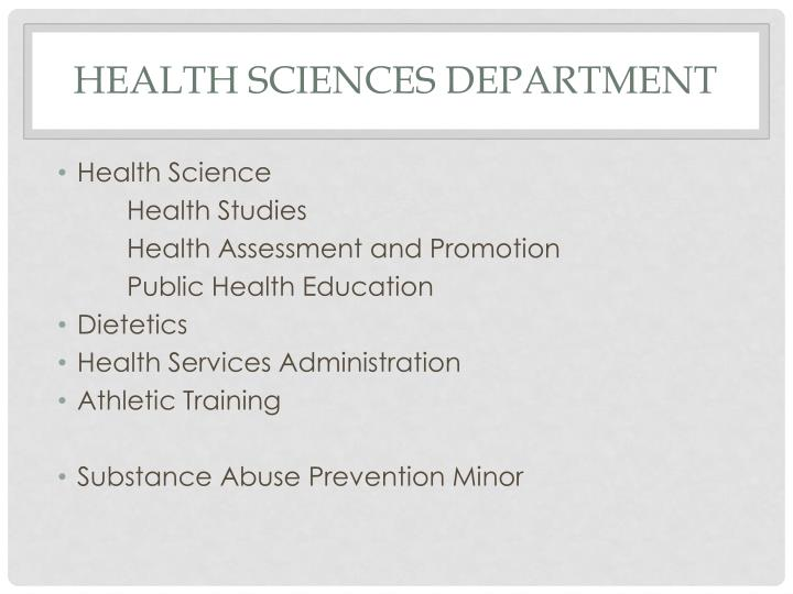 Health Sciences Department