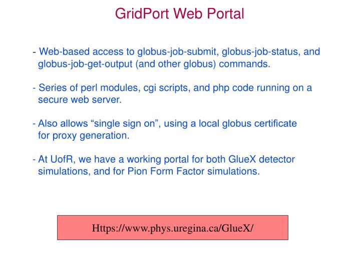GridPort Web Portal