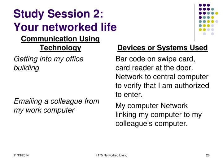 Study Session 2: