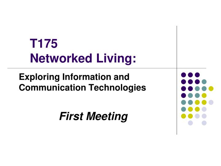 t175 networked living