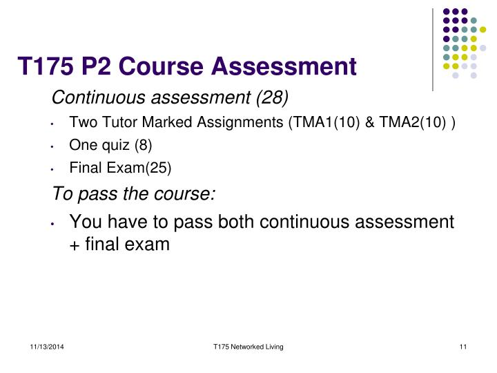 T175 P2 Course Assessment