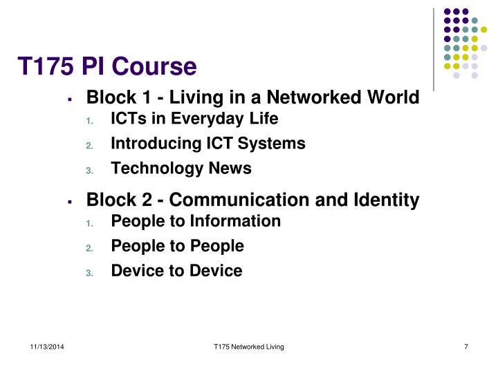 T175 PI Course