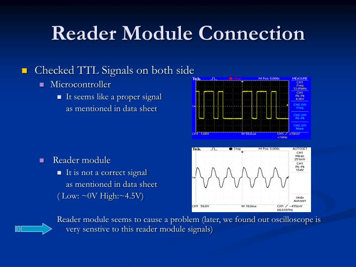 Reader Module Connection