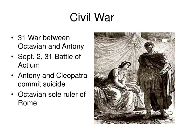 31 War between Octavian and Antony