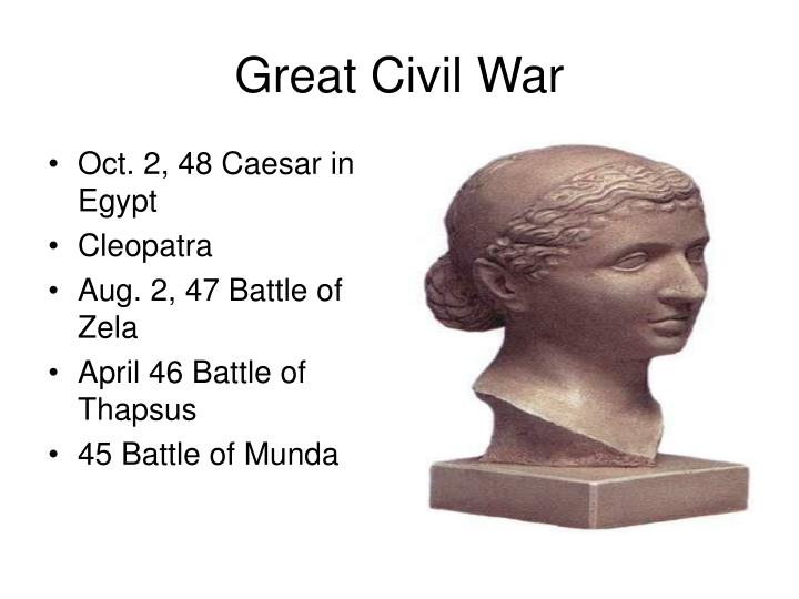 Oct. 2, 48 Caesar in Egypt