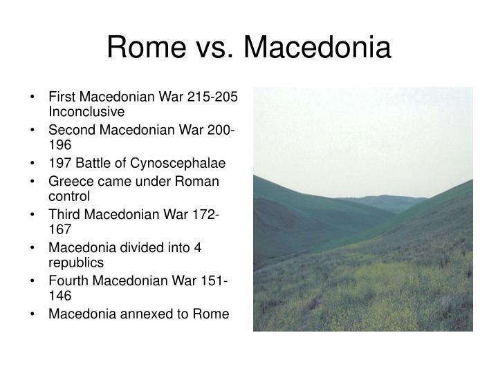 First Macedonian War 215-205 Inconclusive