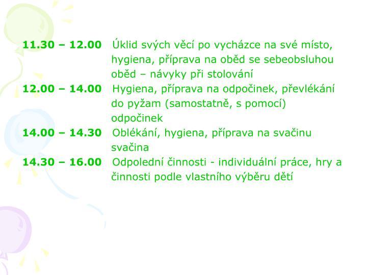 11.30 – 12.00
