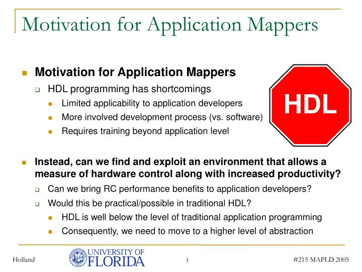 Motivation for application mappers