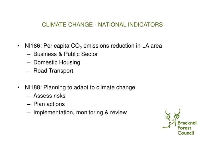 Climate change national indicators