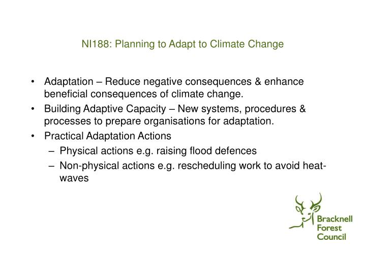 NI188: Planning to Adapt to Climate Change