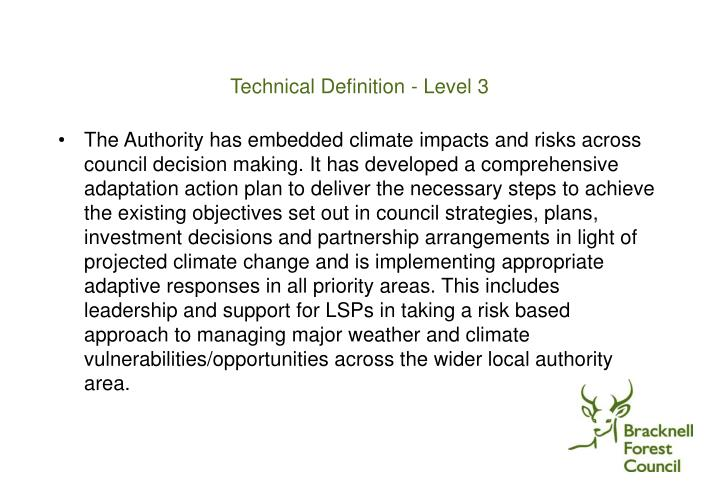 Technical Definition - Level 3
