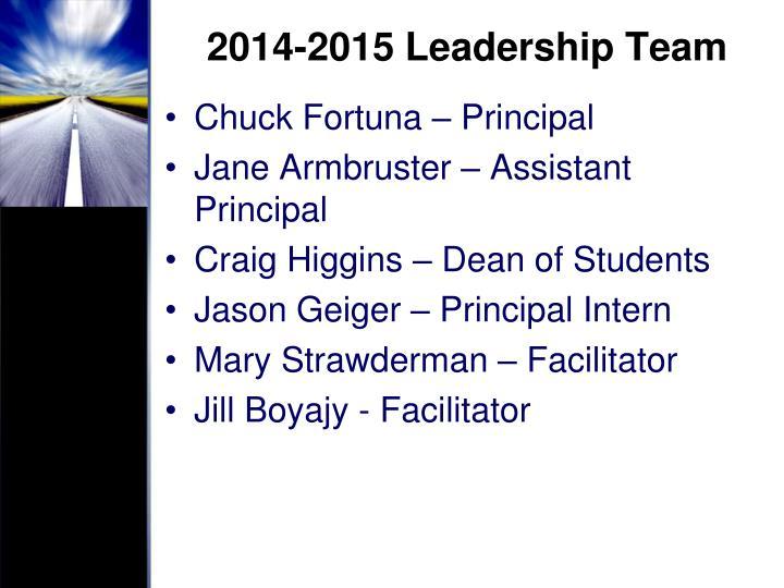 2014-2015 Leadership Team