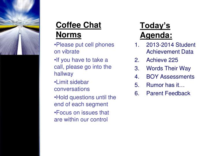 Coffee Chat Norms