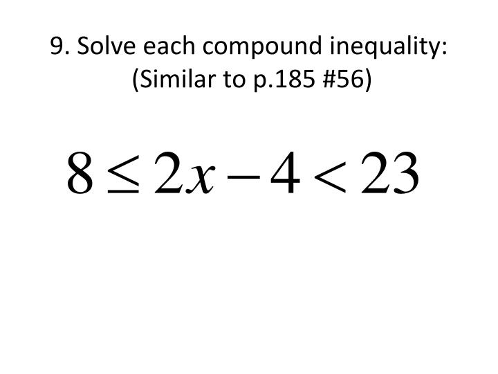 how to solve modulus inequality