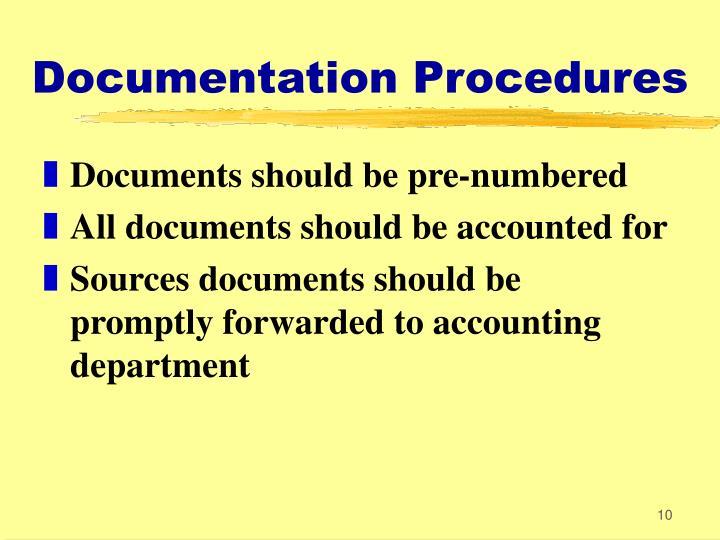 Documentation Procedures