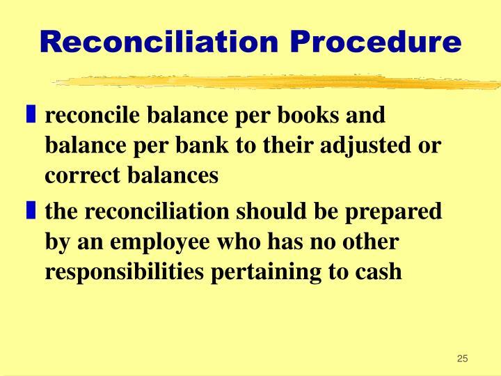 Reconciliation Procedure