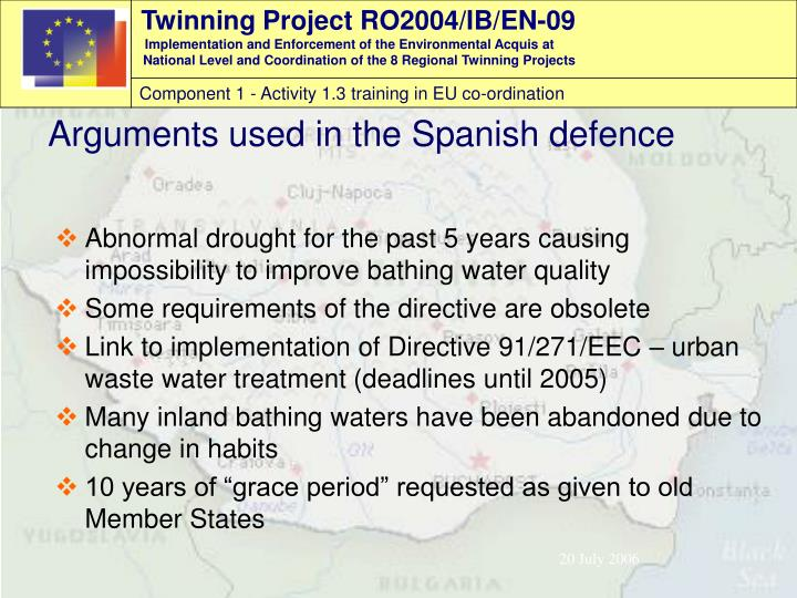 Abnormal drought for the past 5 years causing impossibility to improve bathing water quality
