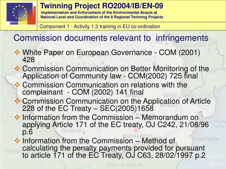 White Paper on European Governance - COM (2001) 428