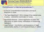 commission s i nternal procedures i