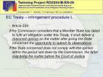 ec treaty infringement procedure i
