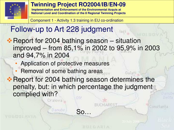Report for 2004 bathing season – situation improved