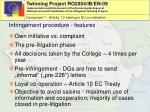 infringement procedure features