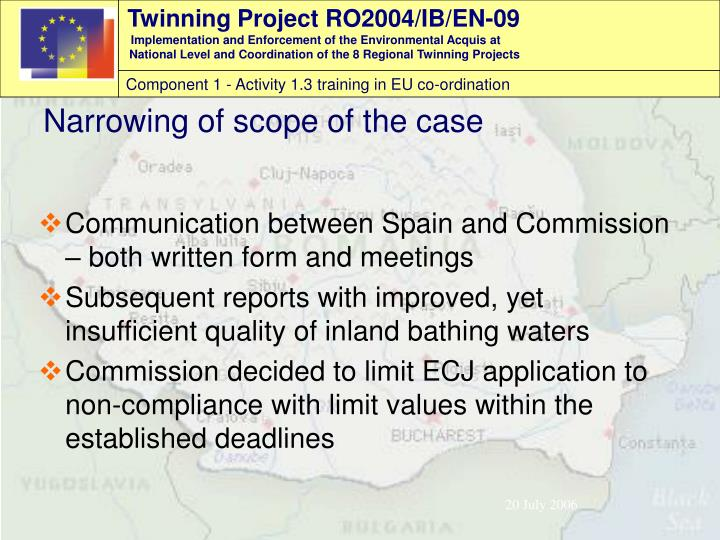 Communication between Spain and Commission – both written form and meetings