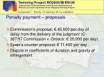 penalty payment proposals