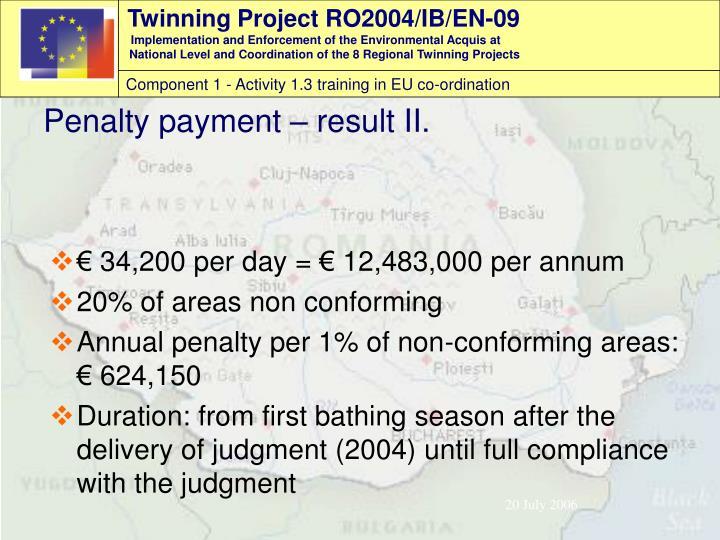 € 34,200 per day = € 12,483,000 per annum