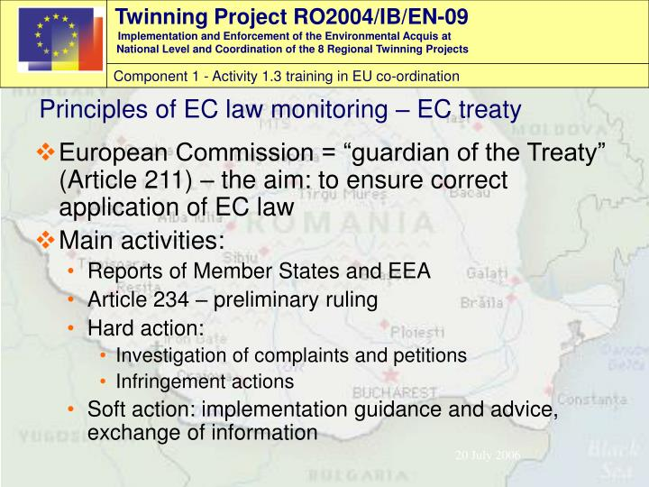 "European Commission = ""guardian of the Treaty"" (Article 21"