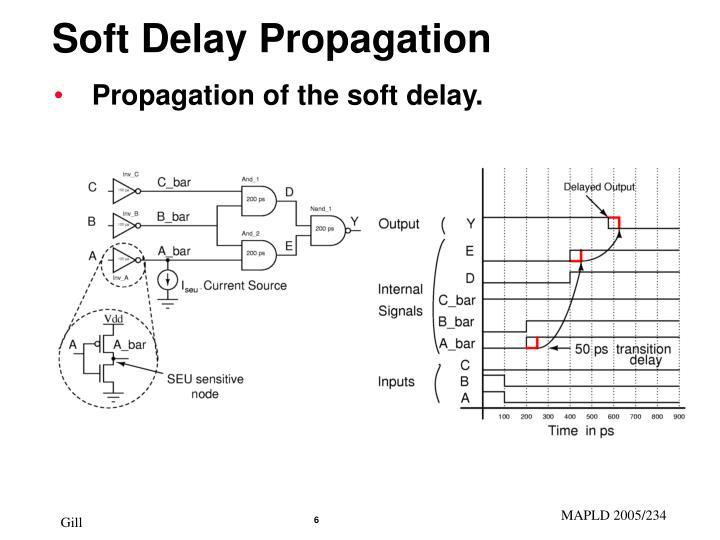 Soft Delay Propagation
