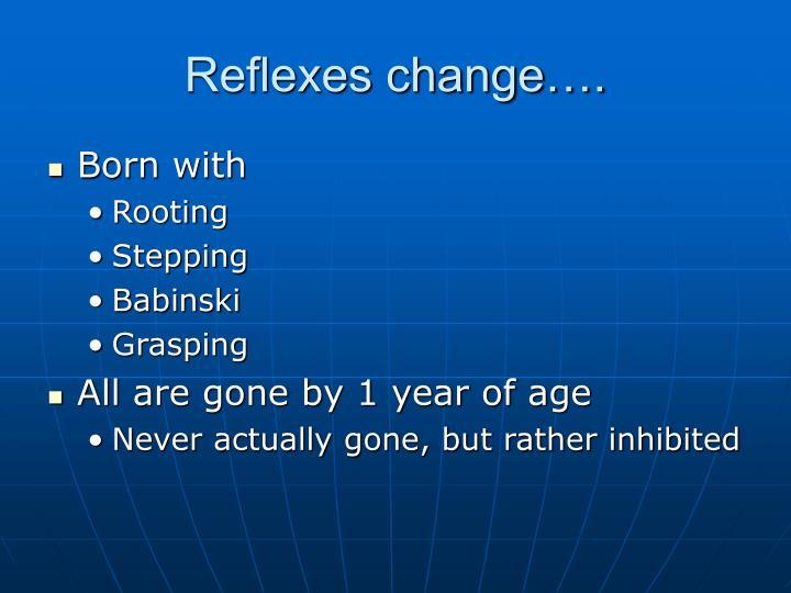 Reflexes change….