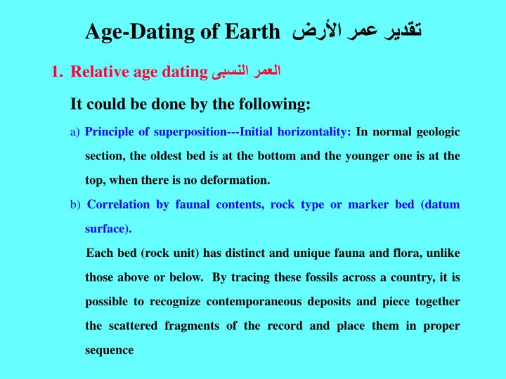 Age-Dating of Earth