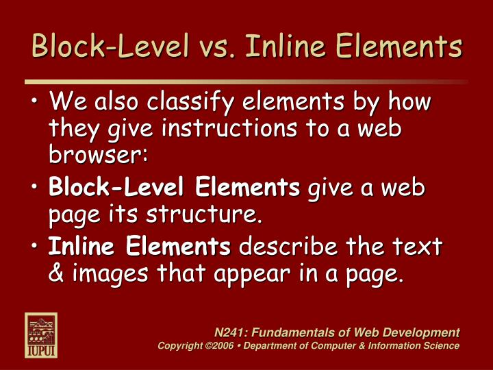 Block-Level vs. Inline Elements
