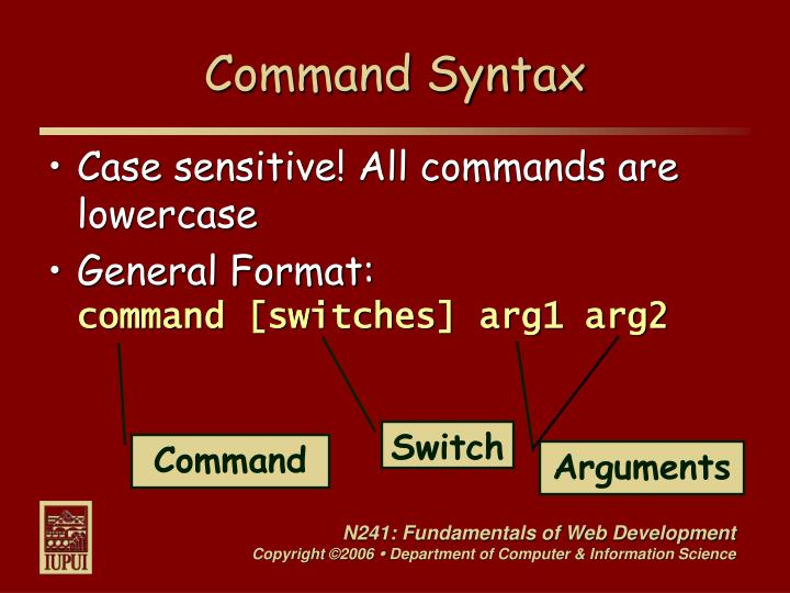 Command Syntax
