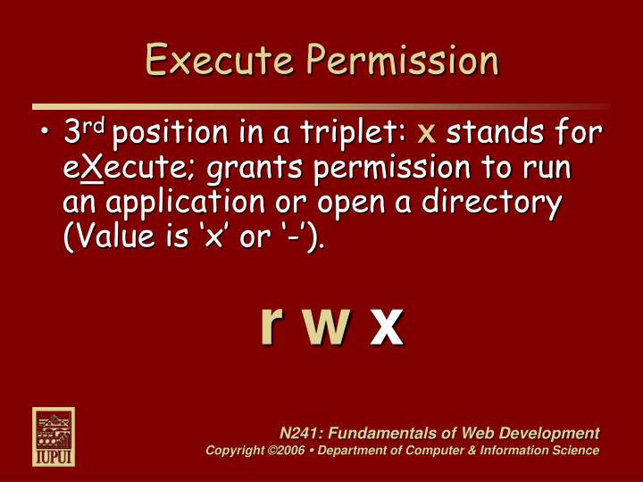 Execute Permission