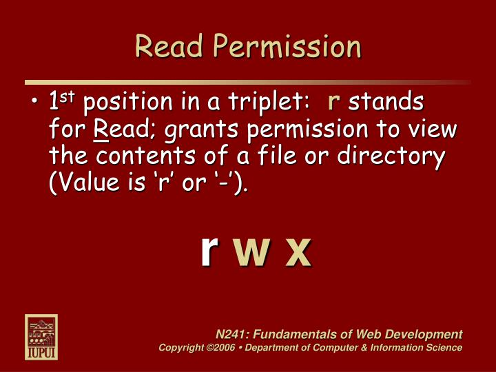 Read Permission