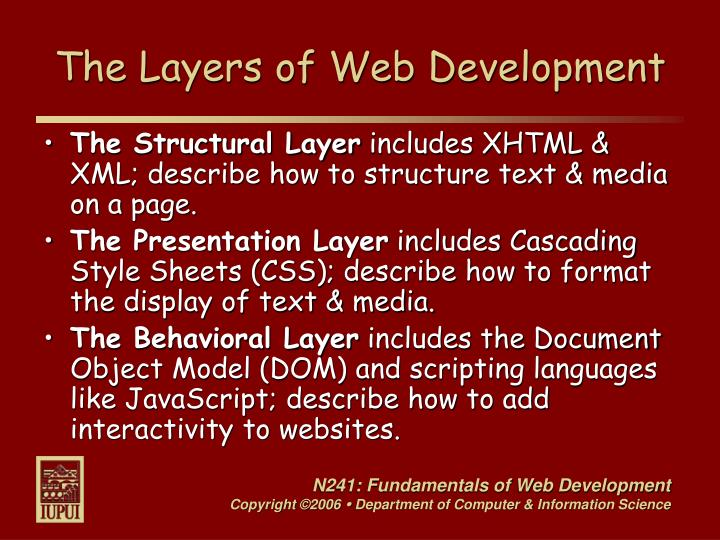 The Layers of Web Development