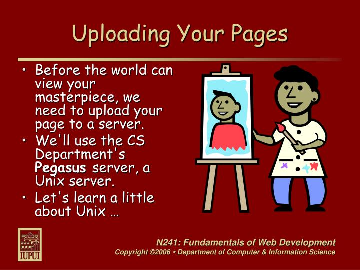 Uploading Your Pages