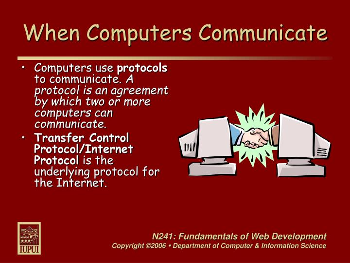 When computers communicate