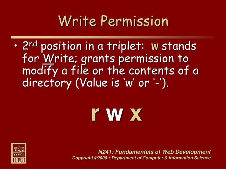 Write Permission