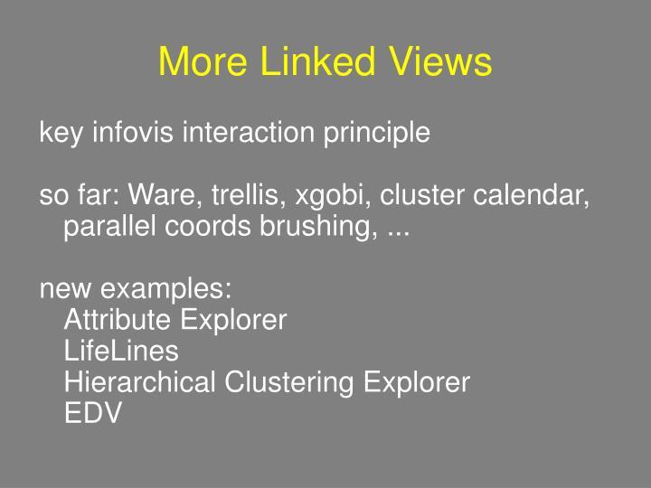 More Linked Views