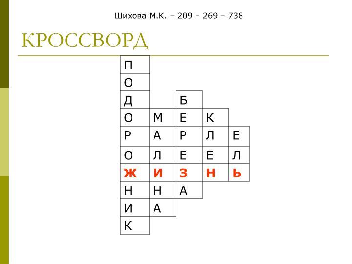 Шихова М.К. – 209 – 269 – 738