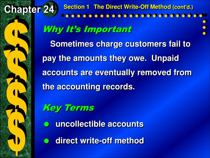 Section 1The Direct Write-Off Method