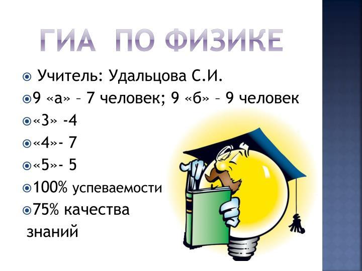 ГИА  по физике