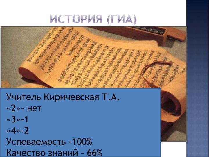История (ГИА)