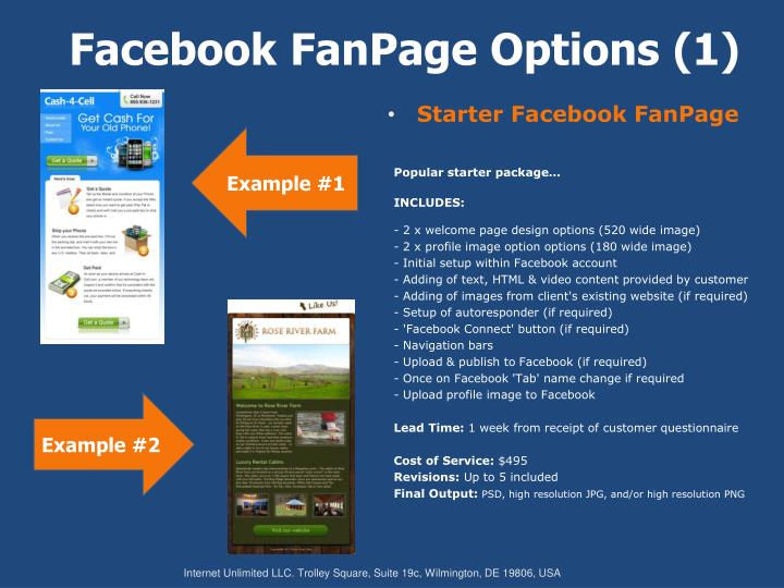 Facebook fanpage options 1