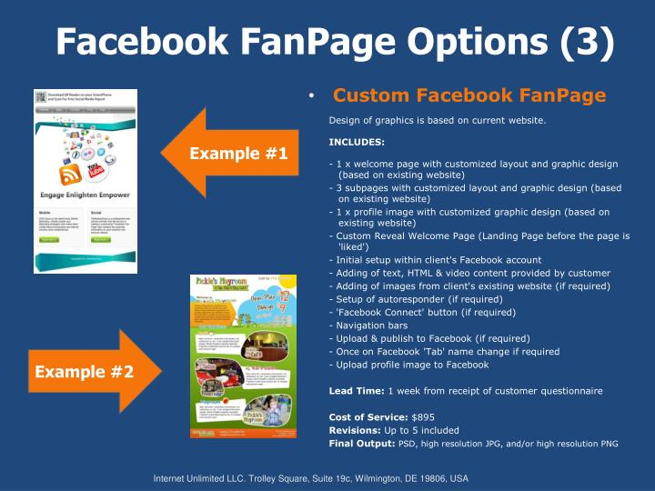 Facebook fanpage options 3